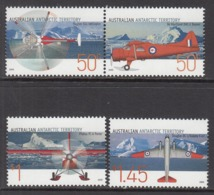 2005 Australian Antarctic Territory Aviation Aircraft Complete Set Of 4 MNH @ 80% Face Value - Neufs