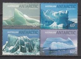 2011 Australian Antarctic Territory Icebergs Complete Block Of 4 MNH @ Face Value - Ungebraucht