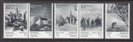 2016 Australian Antarctic Territory Shackleton Hurley's Journey  Complete Set Of 5 MNH @ 90% Face Value - Nuovi
