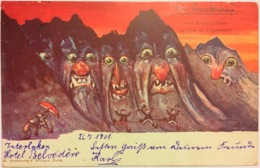 Emil NOLDE (Hansen) Die Schreckhörner Les Pics De L'Épouvante Kunstverlag F. Killinger Zürich 1901 Gegangen - BE Berne