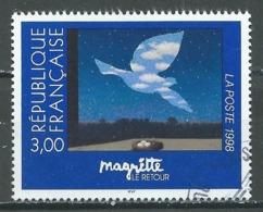 France YT N°3145 René Magritte (Emission Commune France-Belgique) Oblitéré ° - Gebraucht