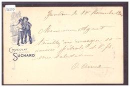 ENTIER POSTAL CHOCOLAT SUCHARD - RARE SUR ENTIER UPU 1900 - GANZSACHE - TB - Suisse