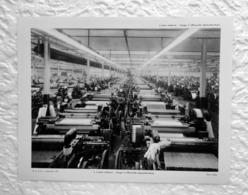 Usine De Tissage à OFFRANVILLE ( Seine Maritime)  - Extrait D'un Dossier De Documentation Pédagogique  1955 - 27 X 21 Cm - Books, Magazines, Comics