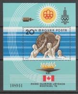 BLOC NEUF DE HONGRIE - WATER-POLO (VAINQUEURS AUX JEUX OLYMPIQUES DE MONTREAL) N° Y&T 128 - Wasserball