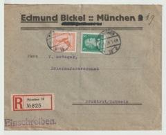 Germany - 1928 - Rare - Vintage Registered Cover To SWITZERLAND - Air Mail - Deutschland