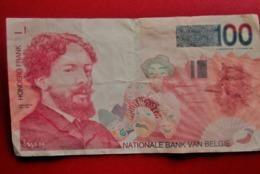 BANQUE NATIONALE BANK VAN BELGIE 100 FRANCS HONDERD FRANK Monnaies Billets Billet DEL AÑO (( Non-Daté-1995 )) (BANKNOTE) - 100 Frank