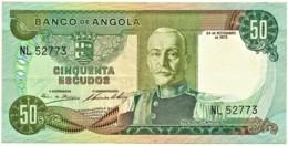 Angola - 50 Escudos - 24.11.1972 - Pick 100 - Série NL - Marechal Carmona - PORTUGAL - Angola