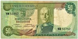 Angola - 50 Escudos - 24.11.1972 - Pick 100 - Série NM - Marechal Carmona - PORTUGAL - Angola