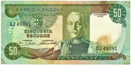 Angola - 50 Escudos - 24.11.1972 - Pick 100 - Série OJ - Marechal Carmona - PORTUGAL - Angola