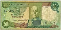 Angola - 50 Escudos - 24.11.1972 - Pick 100 - Série QC - Marechal Carmona - PORTUGAL - Angola