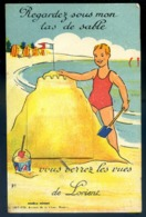 Cpa Du 56 Lorient Carte à Système Avec Ses 10 Petites Vues -- Regardez Sous Mon Tas De Sable Vous Verrez Les Vues   LZ86 - Lorient