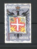 Erinnofilo Brigata Savona 15. Reg. Fanteria, Flagge - Erinnofilia