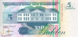SURINAME 5 GULDEN 1998 PICK 136b UNC - Surinam