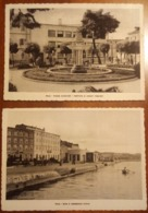 Pola, Pula - Croatia - 2 Cards - 1.Piazza Alighieri, Fontana Ai Caduti Fascisti 2.Idroscalo Civile (ex Province) - Jugoslavia