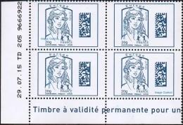 France Coin Daté N° 4975 ** Marianne De Ciappa Et Kawena Datamatrix Europe - Du 29.07.2015 - Angoli Datati