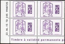 France Coin Daté N° 4976 ** Marianne De Ciappa Et Kawena Datamatrix Monde - Du 23.06.2015 - Angoli Datati