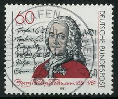 BRD 1981 Nr 1085 Zentrisch Gestempelt X823C8A - [7] República Federal