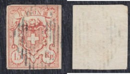 Switzerland 1852 Definitive With Inscription RAYON III - Big Value 15 Rp, Used (o) Michel 12 - 1843-1852 Federal & Cantonal Stamps