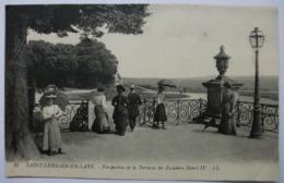 78 - SAINT GERMAIN EN LAYE - Perspective De La Terrasse Des Escaliers Henri IV - Non écrite Dos Vert - - St. Germain En Laye (Château)