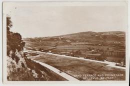 BELFAST NORTHERN IRELAND RPPC BAND TERRACE PROMENADE Postcard Real Photo - Antrim / Belfast