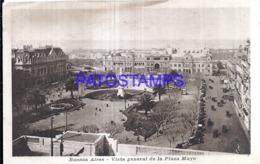 123217 ARGENTINA BUENOS AIRES VISTA GENERAL DE LA PLAZA DE MAYO & TRANVIA TRAMWAY POSTAL POSTCARD - Argentina