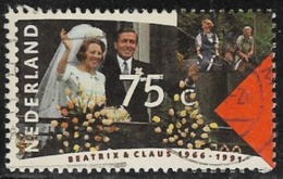 Netherlands SG1592 1991 Royal Silver Wedding 75c Good/fine Used [40/32861/6D] - Period 1980-... (Beatrix)