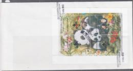 PANDAS -  PECHBNKA TUVA - 1995- PANDA SHEETLET OF 4 ON FIRST DAY COVER - Bears