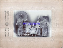 123266 ARGENTINA BUENOS AIRES SAN ISIDRO COSTUMES CARNIVAL DESGUISE PIERROT  & CHINESE 14 X 9.5 CM PHOTO NO POSTCARD - Photographs
