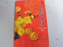 VIETNAM Used GPT Card   7MVSA Canh Thin, 2000, Flowers - Vietnam