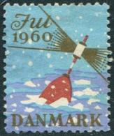 LIGHTHOUSE Denmark 1960 Jul Christmas Seal Label Vignette Seamark Baken Boje Seezeichen Bouée Leuchtturm Phare Faro Fyr - Lighthouses