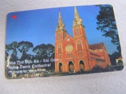 VIETNAM Used GPT Card,     7UPVC Notre Dame Cathedral Saigon - Vietnam