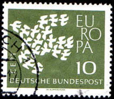 RFA Poste Obl Yv: 239a Mi 367y Yv:0,4 Euro Europa Cept 19 Colombes (Beau Cachet Rond) - BRD