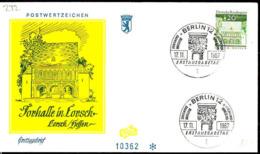 Berlin Poste Obl Yv:272 Mi:273 Lorsch Hessen Torhalle (TB Cachet à Date) Fdc Berlin 17-11-67 - Berlin (West)