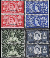 MOROCCO AGENCIES-Tangier 1953 Coronation OVPT.PAIRS:4 - Oficinas En  Marruecos / Tanger : (...-1958
