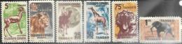 Spanish Sahara Tangier 6 Diff Mint Wildlife Telegraph Stamps - Télégraphe