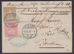 ZH   HORGEN - MAENNEDORF - MEILEN  /  1872 - Lettres & Documents