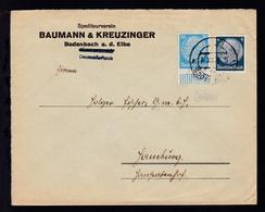 BODENBACH 1 5c 10.XII.38 Auf Firmenbrief Spediteurverein Baumann & Kreuzinger, - Occupation 1938-45