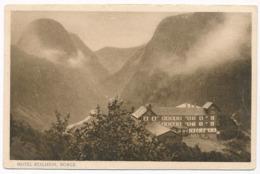 Hotel Stalheim, Norway. Postally Used In 1928, Interesting Message, Stamp Of Ibsen 1828-1928 - Norway