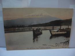 FUJI MOUNTAIN FROM FUJIKAWA TOKAIDO NO 43 CPA MADE IN JAPAN JAPON - Other