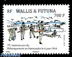 Wallis & Futuna 2019 75th Anniv. Landing In Normandy 1v, (Mint NH), World War II - Ships And Boats - Seconda Guerra Mondiale