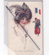 For Home And Beauty / Pour La Maison Et La Beauté(jolis Visage De Femme,Poilu , Drapeau Français) - Patriotic