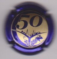 Capsule Champagne CLERGEOT Daniel ( 43 ; 50 ANS Violet Métallisé Et Or ) {S45-19} - Champagne