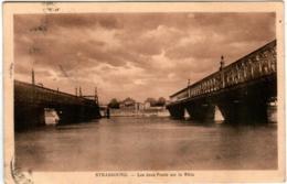 3YZ 832 CPA - STRASBOURG - LES DEUX PONTS SUR LE RHIN - Strasbourg