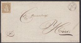 ZH   NIEDERGLATT - HOERI  / 1867 - 1862-1881 Sitzende Helvetia (gezähnt)