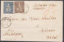 ZH   NIEDERGLATT / 1864 - 1862-1881 Sitzende Helvetia (gezähnt)