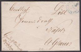 ZH   NIEDERGLATT - NAEFELS GLARUS / 1857 - Poststempel