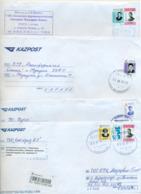 Kazakhstan 2019.Four Envelopes Past The Mail. Tree Envelopes Registered. - Kazakhstan