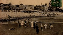 76-LE HAVRE.... LA PLAGE A MAREE BASSE....CPA ANIMEE - Le Havre