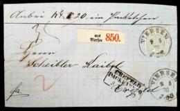 """Nr. 17 EF AusViersen Packetbegletbrief Ausgabestempel """"Packkammer Crefeld"""" - Norddeutscher Postbezirk"""