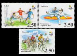 2016Tajikistan 736A-738А2016 Olympic Games In Rio De Janeiro - Sommer 2016: Rio De Janeiro